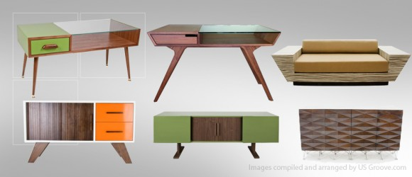 Atomic Living Design Mid Century Modernist Furniture US Groove Products Made In USA